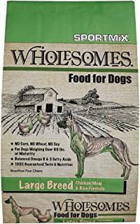 Sportmix Wholesomes Large Breed Chicken Meal And Rice Formula Dry Dog Food, 40 Lb.