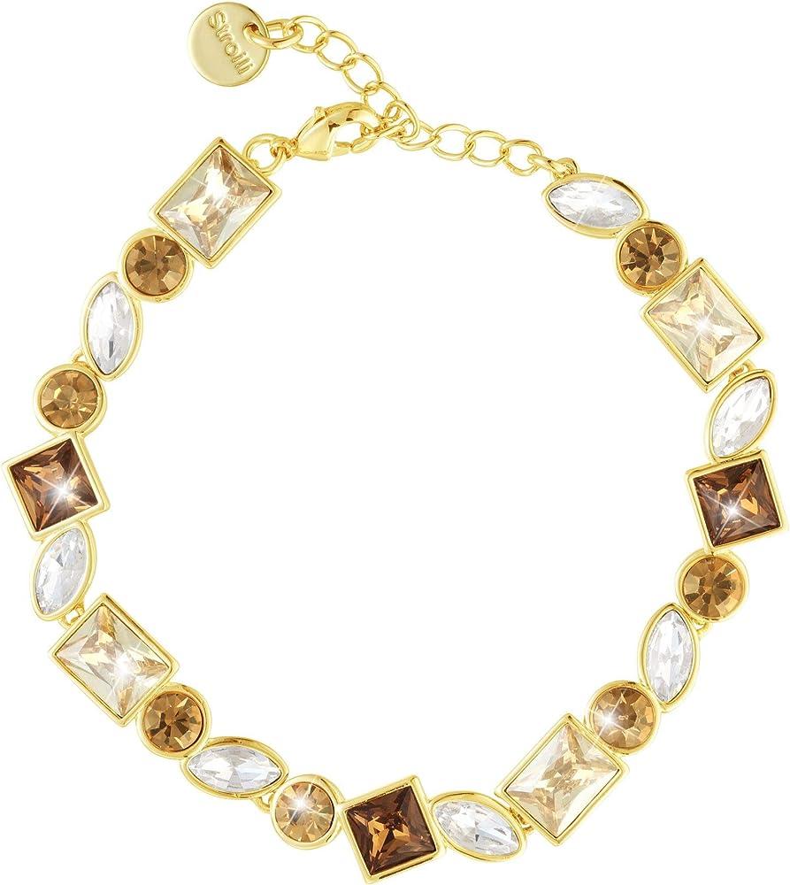 Stroili bracciale morbido con pietre sui toni dell`oro, chiusura classica a moschettone in metallo dorato. 1665796