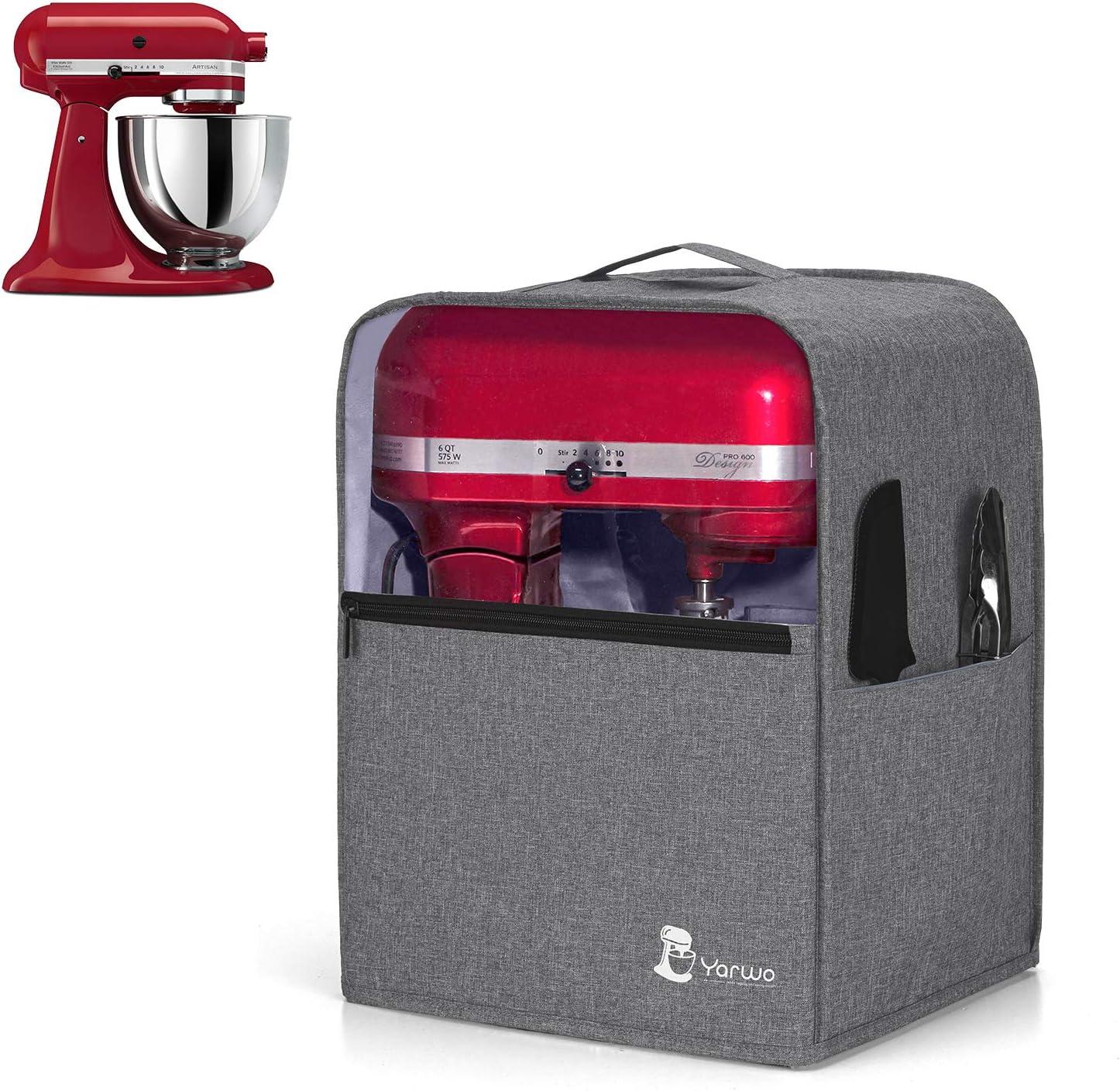 Housse pour Batteur sur Socle Yarwo Housse de Protection pour KitchenAid Robot Convient pour Le Batteur sur Socle de 4,3 litres et Tous Les 4,8 litres Noir