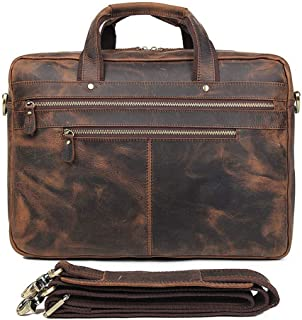 Zxcvlina Laptop Bag Briefcase Mens Briefcase Shoulder Bag Laptop Bag Leather Messenger Bag Business Casual Bag14-inch Computer Bag Mobile Phone Bag Tablet Bag Color : Brown