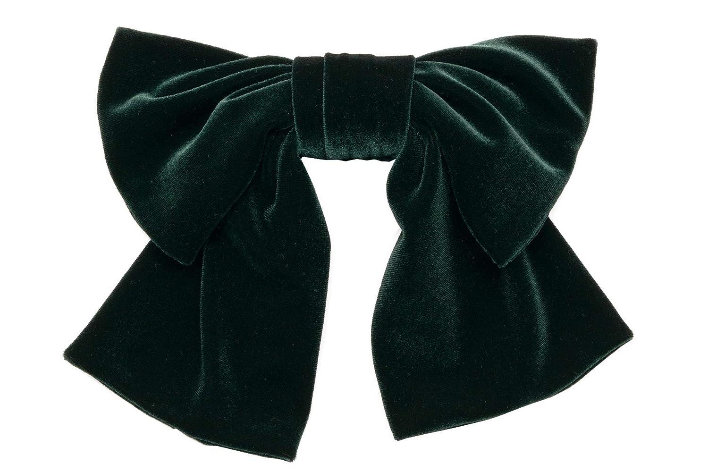 (ソウビエン) 髪飾り 成人式 卒業式 深緑 無地 リボン ベルベット 和洋兼用 コーム 髪留め 卒業式 袴 日本製