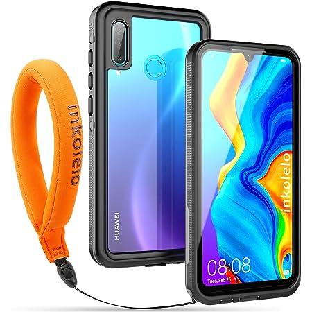 inkolelo Coque Etanche Huawei P30 Lite Certifié IP68 Imperméable Housse de Protection 360 ° Antichoc Protecteur Scellé étanche Étuis Coques Waterproof ...