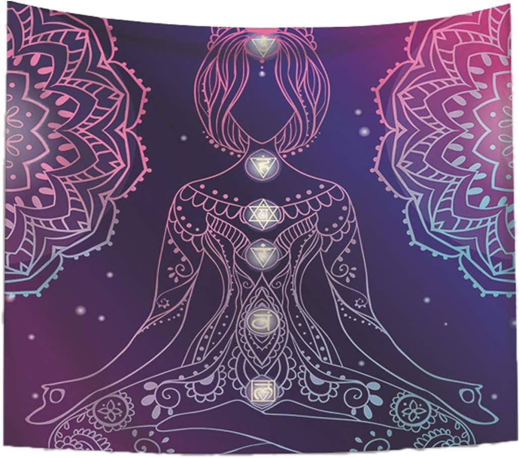 Women Seven Chakra Tapestry Yoga Nashville-Davidson Mall Hangin famous Wall Meditation