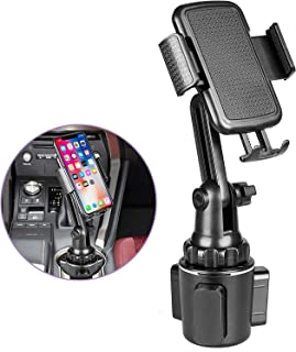 Upgraded Cup Holder Phone Mount, Adjustable Universal Cup Holder Phone Holder Cradle Car Mount for Cell Phone Compatible with iPhone 11 Pro/XR/XS Max/X/8/7 Plus/Samsung S10+/Note 9/S8 Plus/S7 EDG