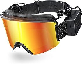 عینک اسکی با لنز ضد بخار گرم شونده گرافن دارای عینک برفی اسپرت شارژ شده برضد مادون قرمز بیش از عینک کلاه ایمنی دو لنز برای مردان و زنان
