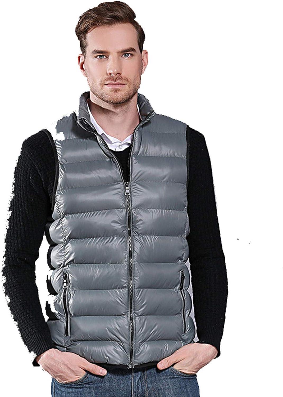 Snhpk Men's Cotton Vest Outerwear Gilets Coat Softshell Jacket, Winter Thicken Warm Windproof Overcoat Waistcoat,002,XXXXL