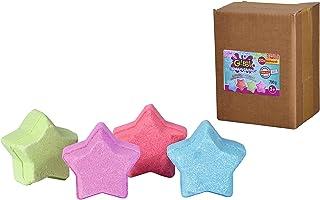 Glibbi Blubber sterren, 20 badballen laten het water bruisen, badbommen, 4 kleuren en geuren, duurzame verpakking, badspee...