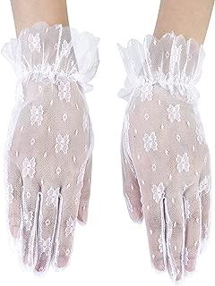 Losuya per matrimonio Guanti di pizzo estivi da donna con protezione UV