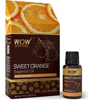 WOW Sweet Orange Essential Oil - Allergy & Digestion - Headache, Tension, Migraine - Energy, Mood & Immune System - Sleep, Meditation & Relaxation 100% Pure Therapeutic Grade (Undiluted) 10 mL