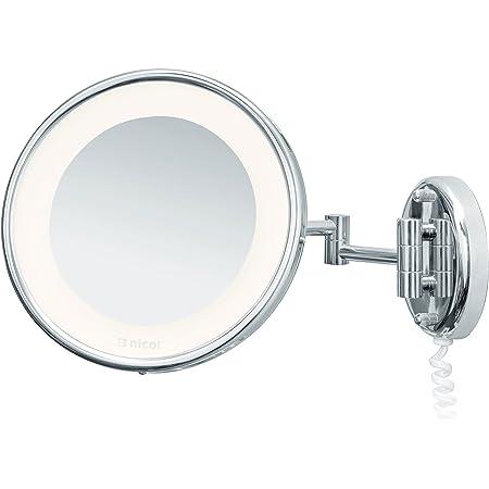 Kosmetikspiegel mit LED Beleuchtung 5-fach Vergrößerung Make Up Wandspiegel