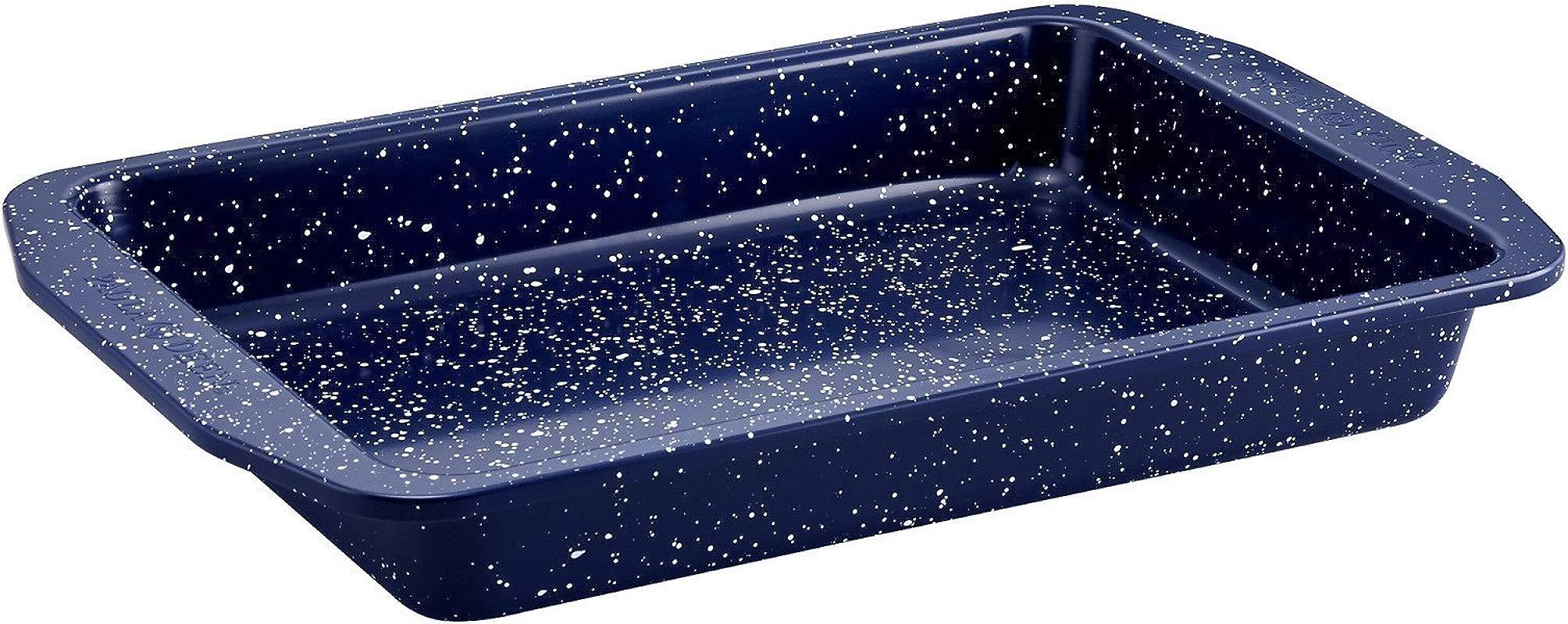 Paula Deen 46813 Nonstick Speckled Bakeware Rectangular Cake Pan 9 X 13 Deep Sea Blue