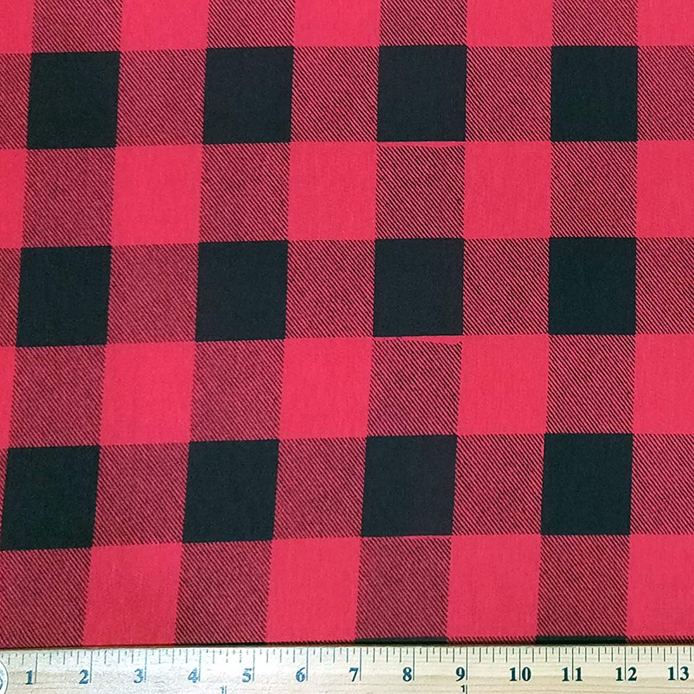Rayon Spandex Knit Black&Red Stretch Checkers Fabric (2 Yard)