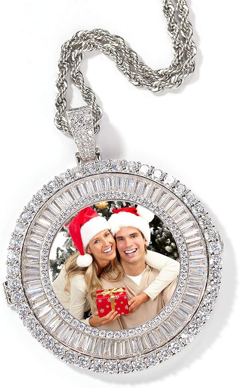 Personalized Las Vegas Mall Photo Necklace Twist Zirconium Pend Max 68% OFF Square