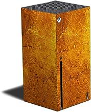 MIGHTY SKINS Película compatível com Xbox Series X - Ouro texturizado | Capa protetora de vinil, durável e exclusiva | Fác...