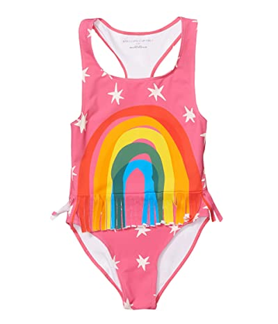Stella McCartney Kids Rainbow One-Piece Swimsuit with Fringe (Toddler/Little Kids/Big Kids) (Pink) Girl