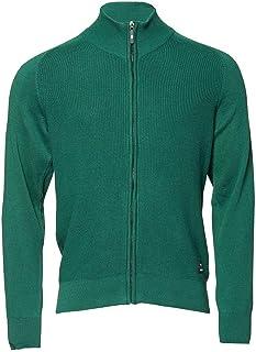 Werder Bremen Strickjacke Pullover Aufdruck Logo Raute Herren Männer Grün