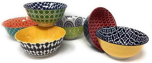 Certified International Chelsea 6 Ceramic Bowls (Green New)