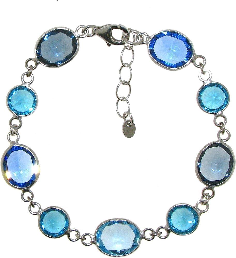 Linea italia gioielli bracciale per donna in argento 925 rodiato e cristalli Swarovski