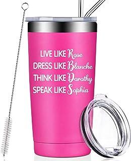 Golden Girls Funny Birthday Gifts for Women, Best Friend, BFF, Live Like Rose Dress Like Blanche Think Like Dorothy Speak ...