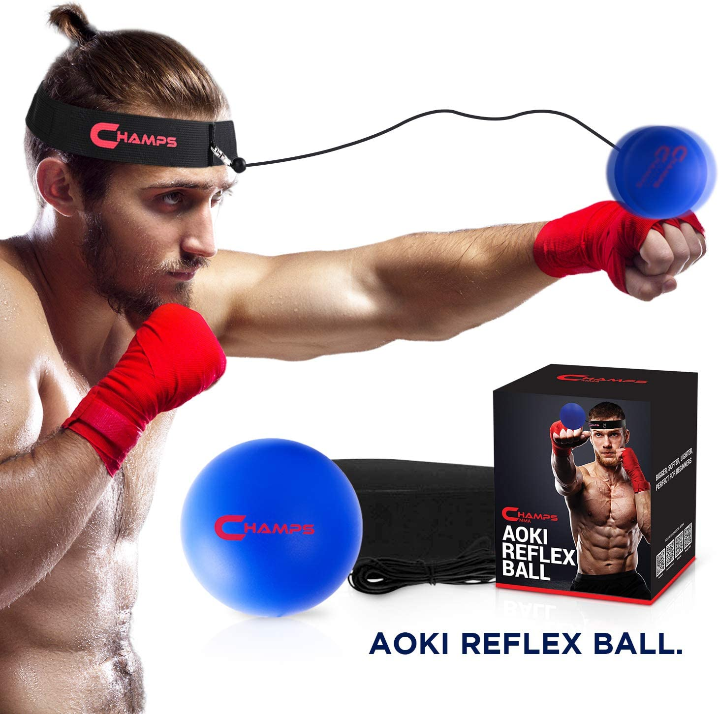 Boxing Equipment Fight Speed Champs MMA Boxing Reflex Ball Boxing Gear Punching Ball Great for Reaction Speed and Hand Eye Coordination Training Reflex Bag Alternative