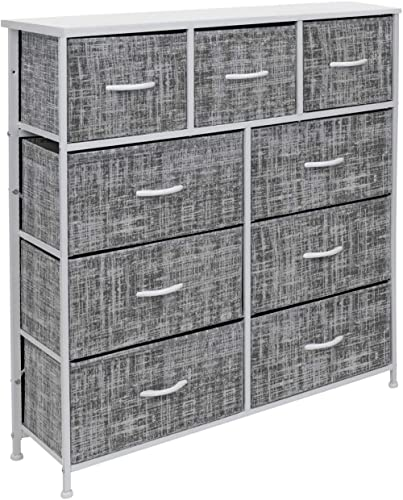 Sorbus Dresser with 9 Drawers - Furniture Storage Chest Tower Unit for Bedroom, Hallway, Closet, Office Organization ...