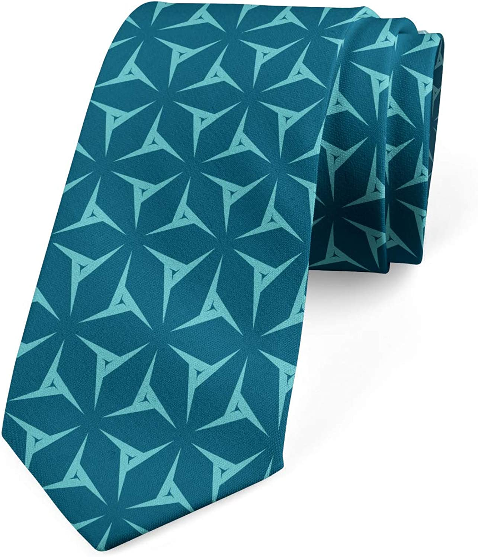 Ambesonne Men's Tie, Geometric Element, Necktie, 3.7