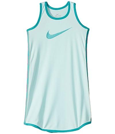Nike Kids Dri-FITtm Racerback Tank Dress (Toddler/Little Kids) (Teal Tint) Girl