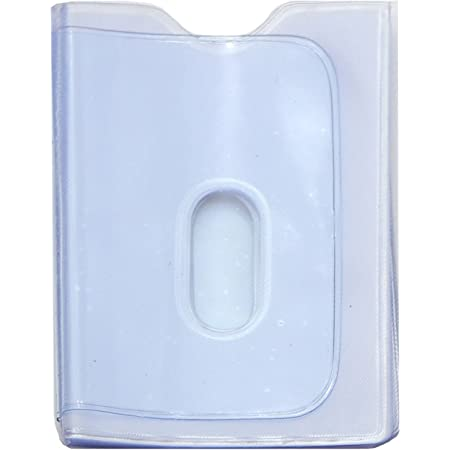 STARHIDE Replacement Plastic 20 Credit Card Portrait Insert Album Sleeves with Thumb Hole