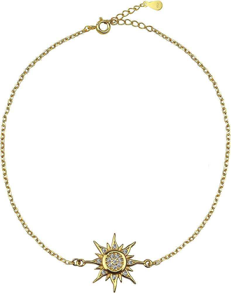 Sofia milani bracciale da donna con ciondolo a forma di stella, in vero argento sterling 925. 30211