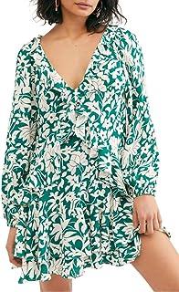 Free People Women's Rebecca Ruffle Long Sleeve Minidress