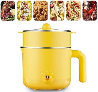 BBZZ Mini poêle électrique avec cuiseur vapeur - Poêle à frire électrique - Wok électrique - Marmite à riz - 1,2 l - Porta...