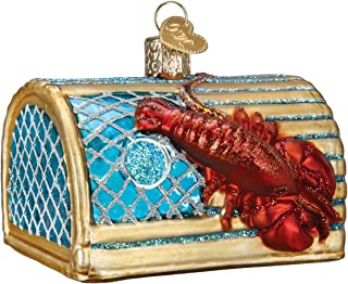 Old World Christmas Glass Blown Ornament Lobster Trap