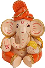 Statuette Carving Handmade Terracotta Made Eco Friendly Lord Ganesha Idol Showpiece for Car Dashboard and Home Décor Decor...