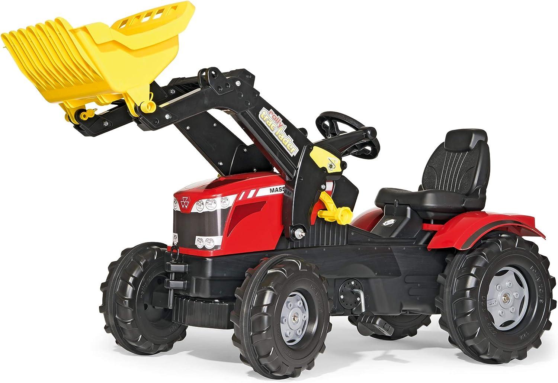 Rolly Toys rollyFarmtrac MF 7726 Tretfahrzeug (für Kinder ab drei Jahre, Flüsterlaufreifen, verstellbarer Sitz, Front- und Heckkupplung) 611133