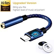 Soditer Pixel 2 Headphone Adapter,USB C to 3.5mm Adapter,USB C Dongle Headpone Jack Has Realtek DAC Hi-Res, Type c Earphon...
