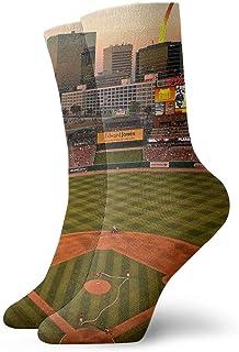 tyui7, Calcetines de compresión antideslizantes St. Louis Ballpark Cosy Athletic 30cm Crew Calcetines para hombres, mujeres, niños