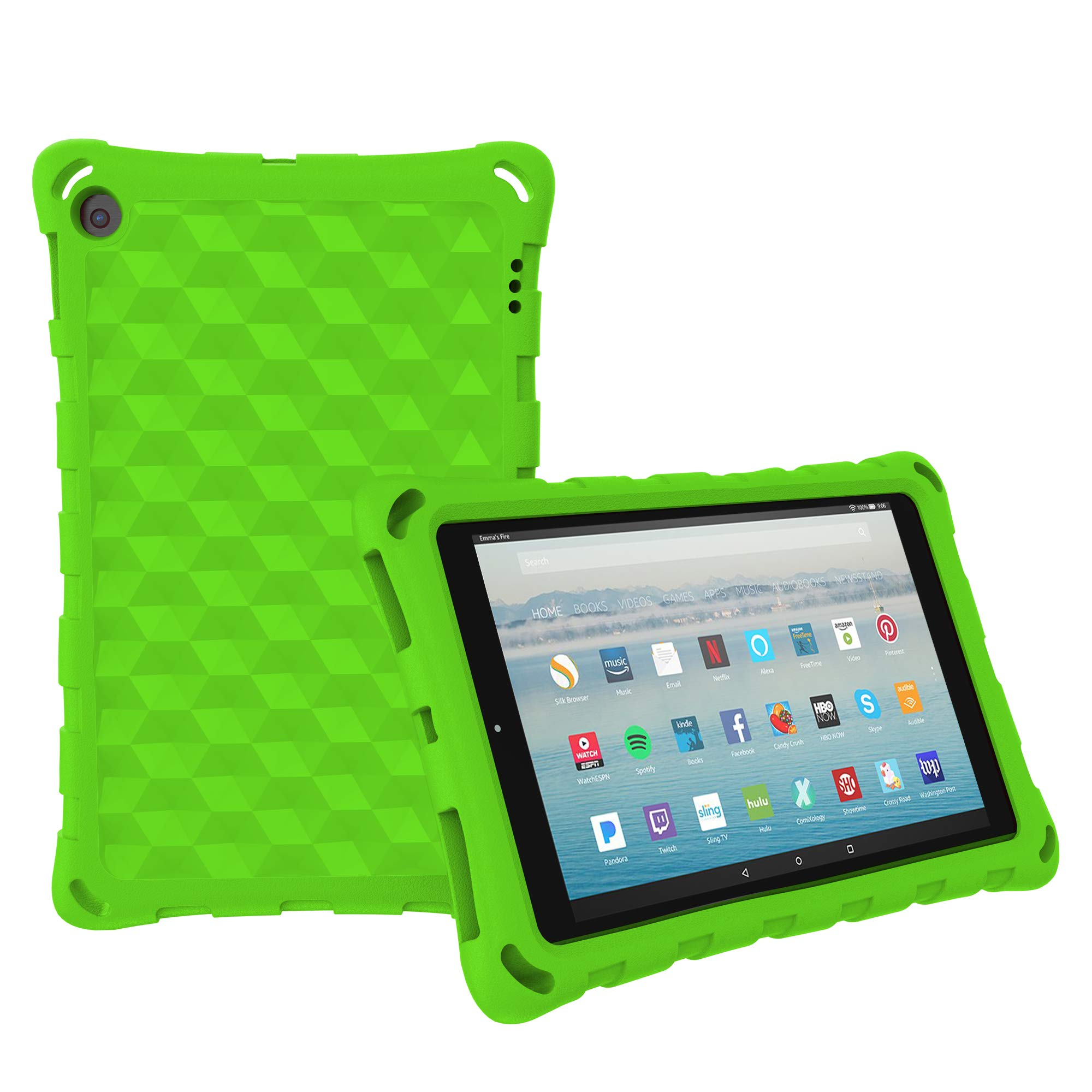 Mr.Spades 10.1 Inch Tablet Case (Compatible 5th/7th/9th Generation, 2015/2017/2019 Release) - Green