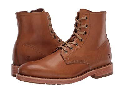 Frye Bowery Lace-Up (Caramel Vintage Veg Tan) Men