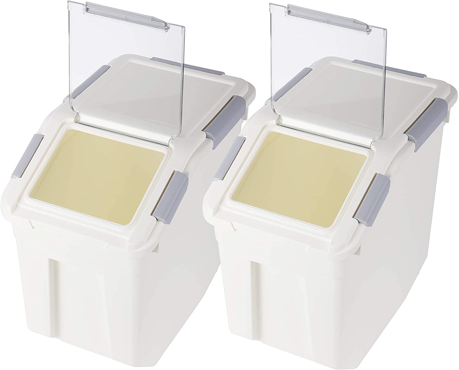 Ranking TOP20 Rice Storage Max 61% OFF Container with Wheels Locking 507.27oz PP Seal Lid