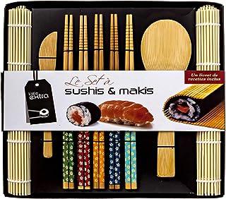 Soeos Beginner Sushi Making Kit-10 pcs, Bamboo Sushi Kit, Sushi Making Tool Gift Set, Included 2 Rolling Mats - 5 Pairs Ch...