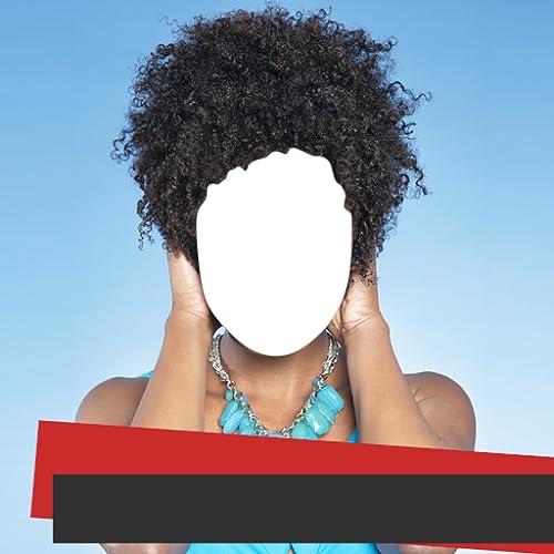 Afro-Frisur-Foto-Montage