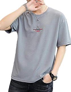 [アルトコロニー] ワンポイント カットソー ロゴ ティーシャツ スポーツ 半そで ユッタリ カジュアル 綿 M ~ XL メンズ