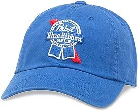 American Needle Ballpark Pabst Blue Ribbon Blue Beer Baseball Dad Hat (PBC-1901B-ROY)