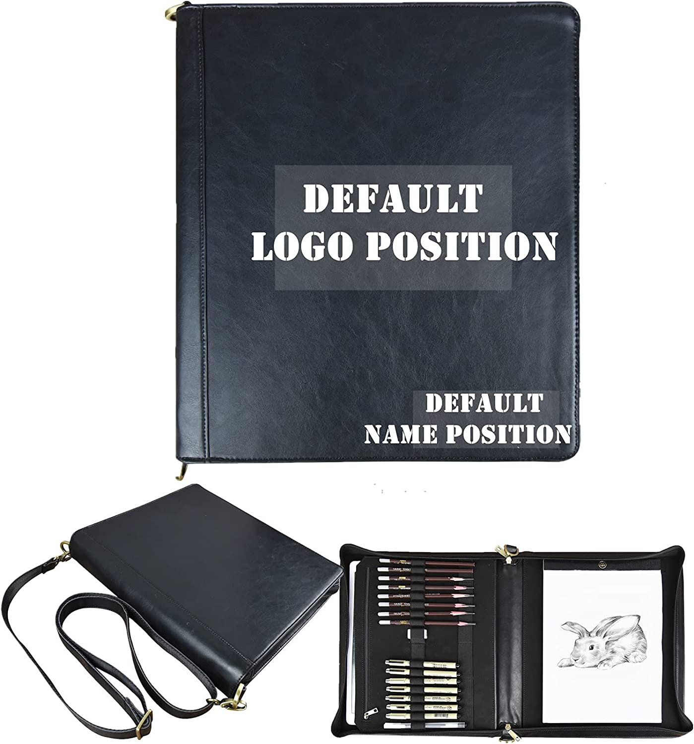 Faux Leather Portfolio for Artists Lea with Vegan Be Al sold out. super welcome Carry Straps