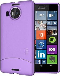 TUDIA - Carcasa de TPU para Microsoft Lumia 950 XL, Púrpura