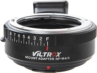 VILTROX NF-M43 マウントアダプター MF ニコン Nikon G/Dマウントレンズ→マイクロフォーサーズ M43 マウントカメラ 絞り調整可能 無限遠合焦サポート パナソニック GH5 GH4 GF9 GF8 GX8 G7 オリン...