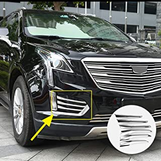 6Pcs Chrome Front Fog Light Moulding Side Air Vent Cover Trims Fit for Cadillac XT5 2017 2018 2019 Car Exterior Accessories