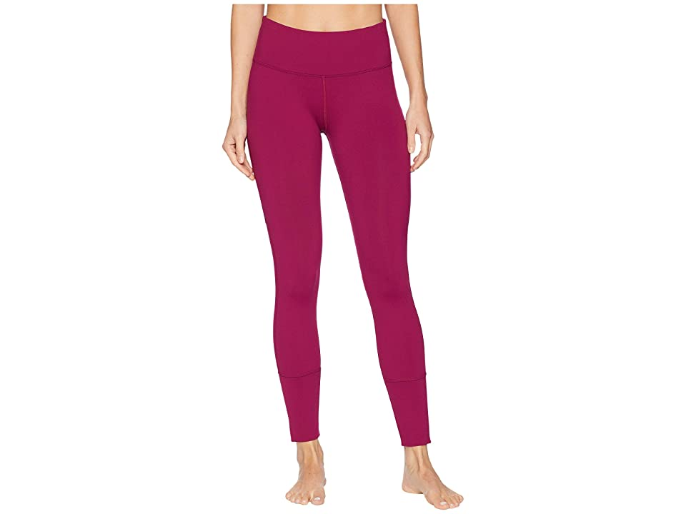 Lorna Jane Luster Core Ankle Biter Tights (Beetroot) Women
