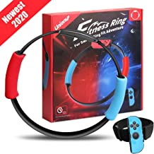Unionup Fitness Ring for Nintendo Switch Ring Fit Adventure, Ring Con and Leg Strap for Sports Games, Yoga Accessories Com...
