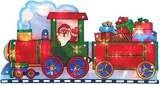 The Christmas Workshop 20 LED funciona con pilas Santa en un tren de silueta de luz